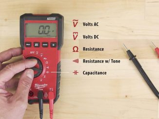 What do the symbols on a multimeter mean