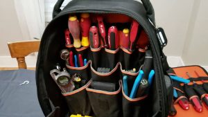An inside view of the Klein Tool Backpack